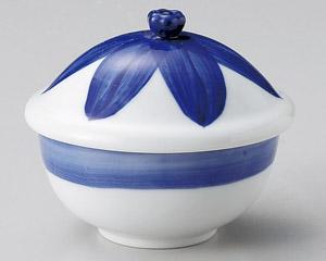 ブルー花だえんむし碗
