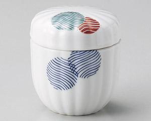 江戸小紋菊型むし碗