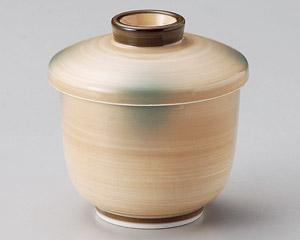 オレンジ巻グリン吹京型むし碗