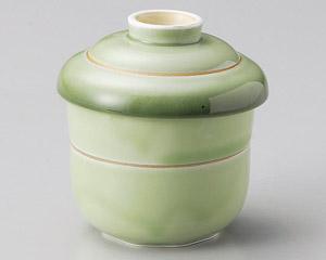緑彩金筋むし碗