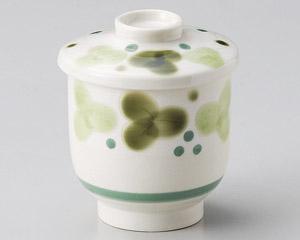 緑彩ぶどうむし碗