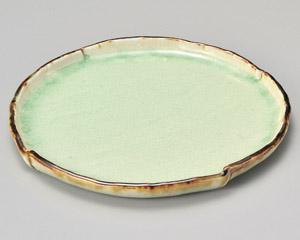 翠玉タタラ型7.0寸丸皿 画像
