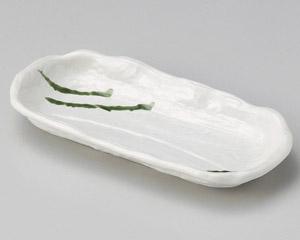 白釉織部流し深口前菜皿