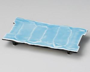 湖水青白まな板皿