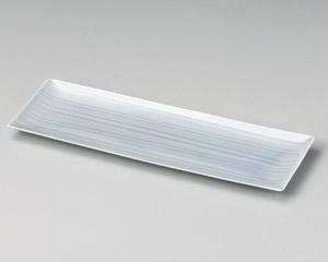 薄墨青磁35cm長角皿