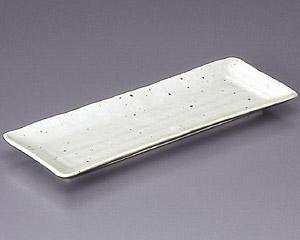 白粉引長角皿