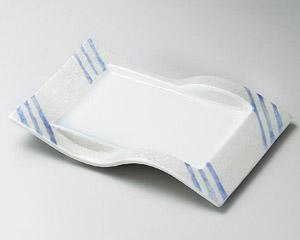 ブルー線ラスター前菜皿