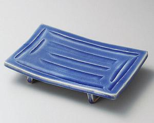 青釉ソギまな板焼物皿
