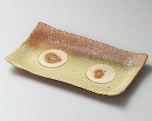 火色伊賀吹き焼物皿