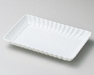 白菊17cm長角皿