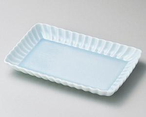 かすみ青白21cm長角皿