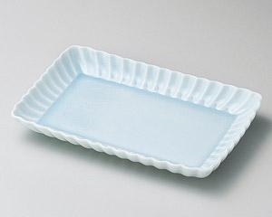 かすみ青白17cm長角皿