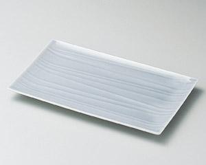 薄墨青磁24cm長角皿