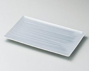 薄墨青磁18cm長角皿