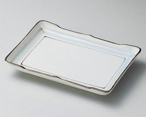 淡彩ライン7.0長角皿