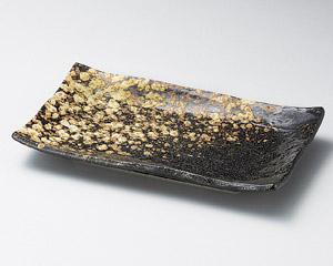 黒備前石目焼物皿
