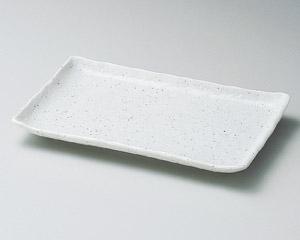 斑点粉引17cm長角皿
