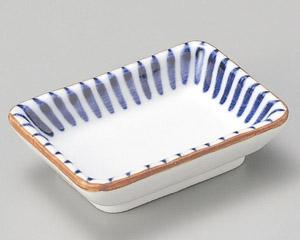 藍十草長角小皿