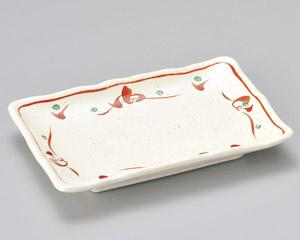 唐津赤絵焼物皿