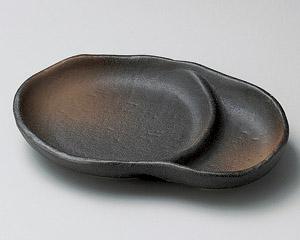 黒伊賀仕切皿