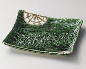 織部ロマン角型大盛皿