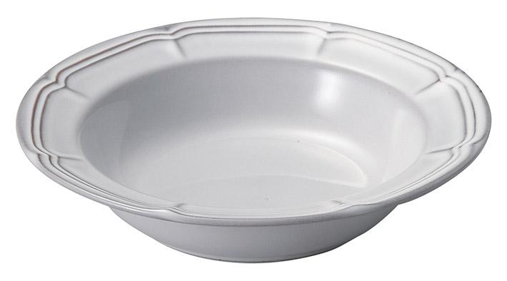 ラフィネ スモークホワイト 21.5cmリムスープボウル