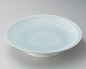 青白磁静流尺一皿