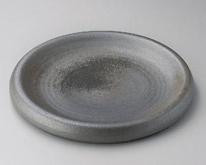 黒窯変12.3台皿
