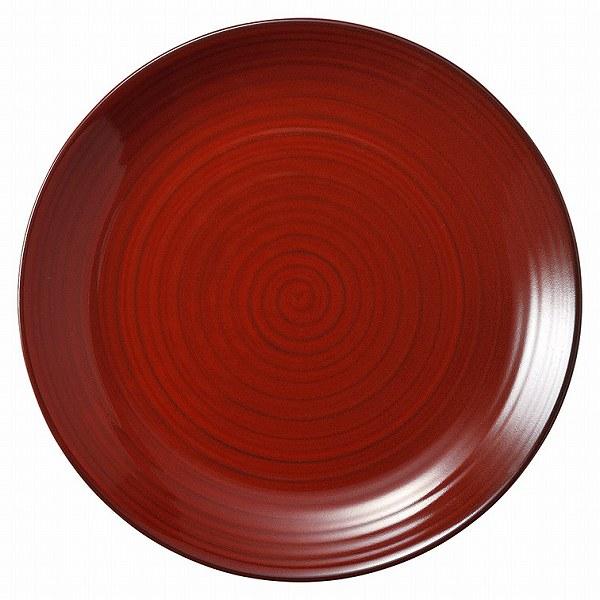 彩漆 25cm丸皿 画像
