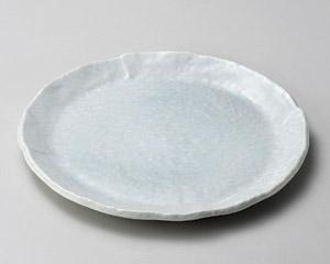 青白釉9.0丸皿