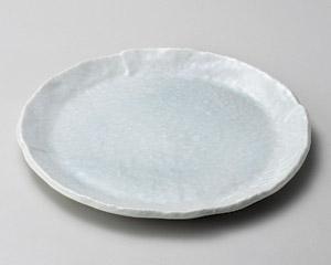 青白釉7.0丸皿