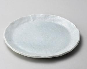 青白釉6.0丸皿