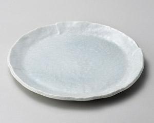 青白釉丸銘々皿