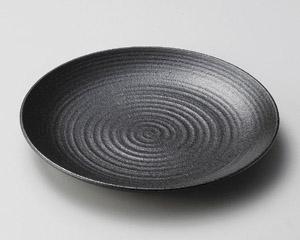 いぶし黒27cm丸皿
