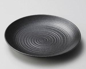 いぶし黒22.5cm丸皿