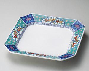 グリン花小紋高台5.5皿