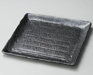 黒釉正角大盛皿