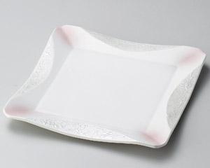ラスターピンク正角和皿