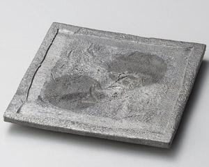 黒窯変ボタモチ正角皿