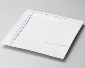 プラチナライン正角27cm皿
