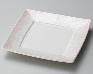 ラスター紅ピンク四角皿・特価(在庫10限り)