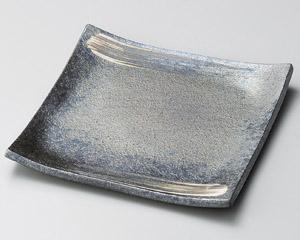 黒窯変刷毛目7.0角皿