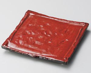 紅黒炭正角皿(小)