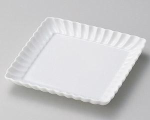 白菊17cm四角皿