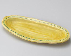 琥珀楕円尺皿