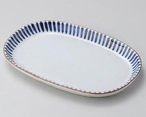 藍十草小判型深口8.0皿