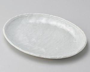 オフケ白ライン6.0小判皿