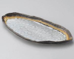 アカネ木の葉長皿
