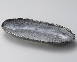 雫石長楕円皿(大)