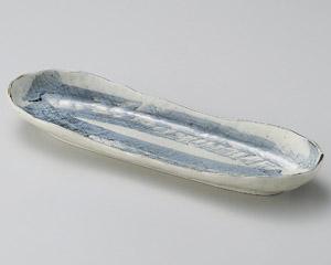 藍染舟形長皿